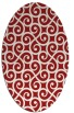 rug #512865 | oval red traditional rug