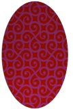rug #512869 | oval red traditional rug