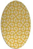 rug #512905   oval yellow traditional rug