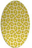 rug #512917 | oval white traditional rug