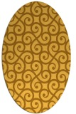rug #512921 | oval yellow traditional rug