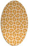 rug #512965 | oval white traditional rug