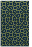 rug #513005 |  green traditional rug