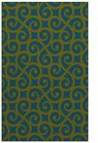 rug #513029 |  green traditional rug