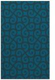 rug #513049 |  blue-green traditional rug