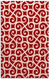 rug #513209 |  red traditional rug