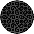rug #513329 | round black traditional rug