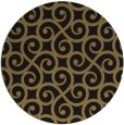 rug #513341 | round mid-brown traditional rug