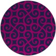 rug #513349 | round blue traditional rug