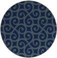 rug #513353 | round blue-green rug