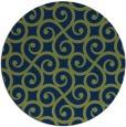 rug #513357 | round green rug