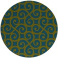 rug #513381   round green traditional rug