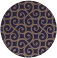 rug #513429 | round beige traditional rug