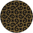 rug #513437   round mid-brown traditional rug