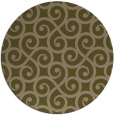 rug #513441   round mid-brown traditional rug