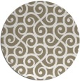 rug #513461 | round mid-brown traditional rug