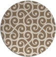 rug #513473 | round mid-brown traditional rug