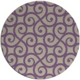 rug #513501 | round purple traditional rug