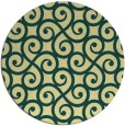 rug #513525 | round yellow traditional rug
