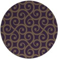 rug #513553 | round mid-brown traditional rug
