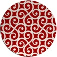 rug #513561 | round red rug