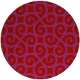 rug #513573 | round red traditional rug