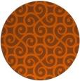 rug #513585 | round red-orange popular rug