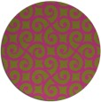 rug #513649 | round light-green rug
