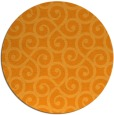 rug #513665 | round light-orange traditional rug