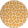 rug #513669 | round light-orange traditional rug