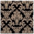 rug #514037 | square black damask rug