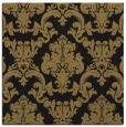 rug #514045 | square mid-brown damask rug