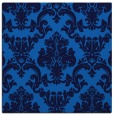 rug #514193 | square blue damask rug