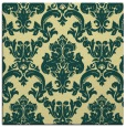rug #514229 | square yellow damask rug