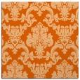 rug #514285 | square red-orange damask rug