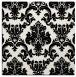 rug #514297   square black damask rug