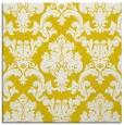 rug #514325   square yellow damask rug