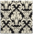 rug #514333 | square black damask rug