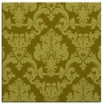 rug #514345 | square light-green damask rug