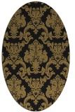 rug #514397   oval brown damask rug