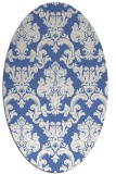 rug #514417 | oval blue traditional rug