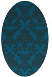 rug #514457   oval blue damask rug