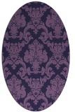 rug #514473 | oval purple traditional rug