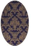 rug #514485   oval beige damask rug