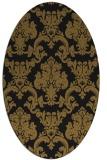 rug #514493 | oval mid-brown rug