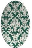 rug #514509 | oval green damask rug