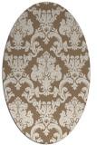 rug #514529   oval mid-brown rug