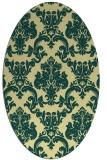 rug #514581 | oval yellow traditional rug