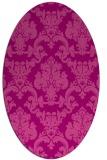 rug #514585 | oval pink traditional rug