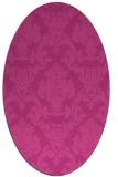 rug #514587 | oval damask rug